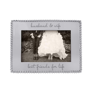 Beaded 4x6 Engravable Frame-Photo Frames-|-Mariposa