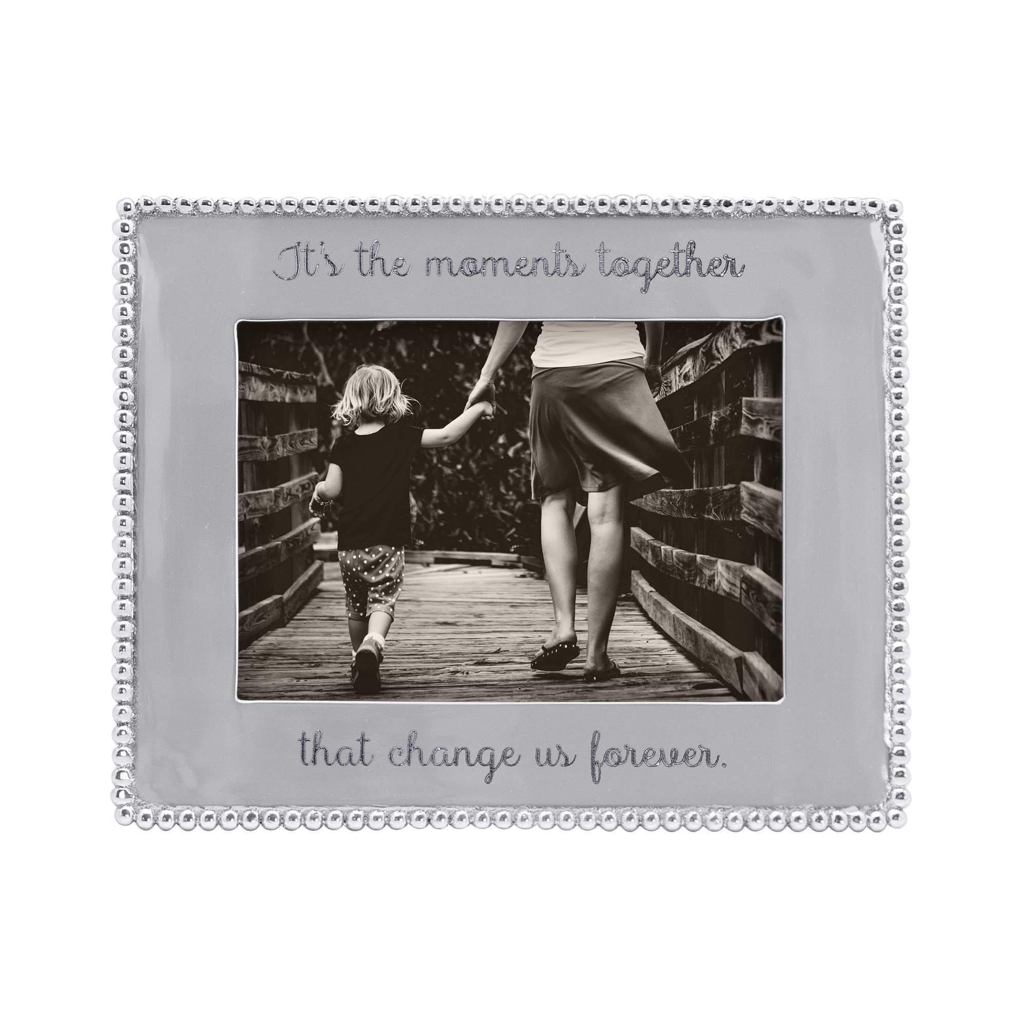 Beaded 4x6 Engravable Picture Frame Mariposa