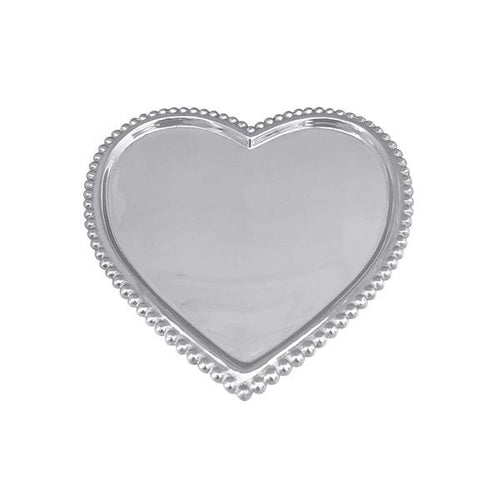 Beaded Heart Statement Tray | Mariposa Serving Trays and More