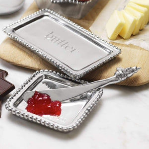 Beaded Post-It Note Holder-Serving Trays and More-|-Mariposa