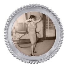 Load image into Gallery viewer, Beaded Round Frame | Mariposa Photo Frames
