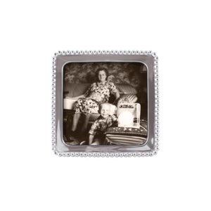 Beaded Square 5 x 5 Frame-Photo Frames-|-Mariposa