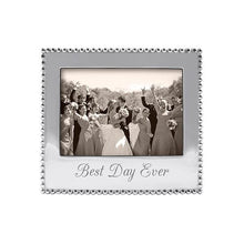 Load image into Gallery viewer, BEST DAY EVER Beaded 5x7 Frame | Mariposa Photo Frames