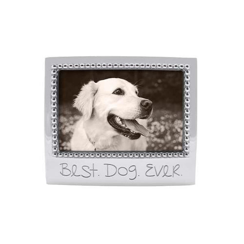 BEST DOG EVER Beaded 4x6 Frame | Mariposa Photo Frames