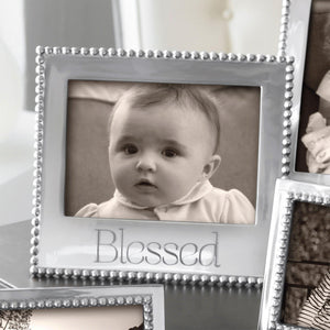 BLESSED Beaded 5x7 Frame-Photo Frames-|-Mariposa