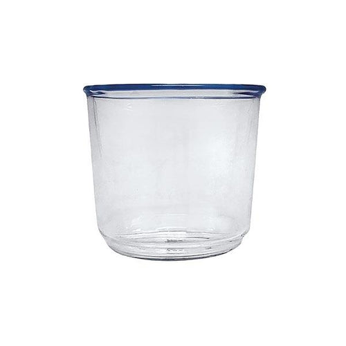 Blue Simplicity Double Old Fashion Glass | Mariposa Glassware