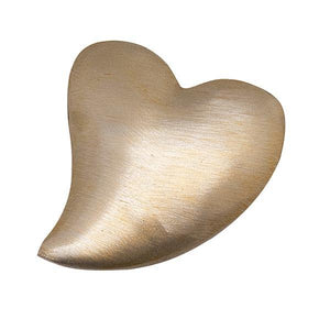 Brushed Gold Heart Napkin Weight | Mariposa Napkin Boxes and Weights