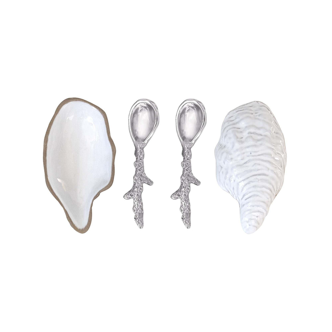 Ceramic Oyster and Spoon Set | Mariposa Ceramics