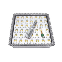 Load image into Gallery viewer, Champagne Beaded Napkin Box | Mariposa Napkin Boxes and Weights