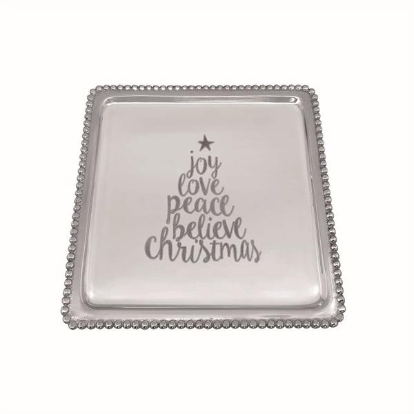 CHRISTMAS TREE Beaded Luncheon Tray | Mariposa Serving Trays and More