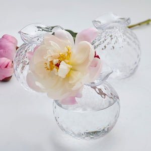 Mariposa Handblown Clear Pineapple Bud Vases