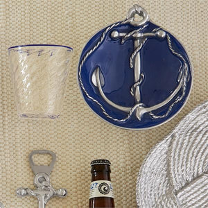 Cobalt Anchor Dip Dish-Nut and Sauce Dishes-|-Mariposa