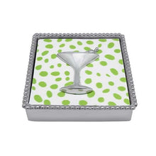 Load image into Gallery viewer, Cocktail Beaded Napkin Box | Mariposa Napkin Boxes and Weights