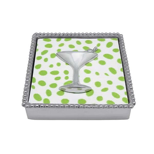 Cocktail Beaded Napkin Box | Mariposa Napkin Boxes and Weights