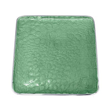 Load image into Gallery viewer, Croc Small Square Green Plate | Mariposa Canape and Small Plates