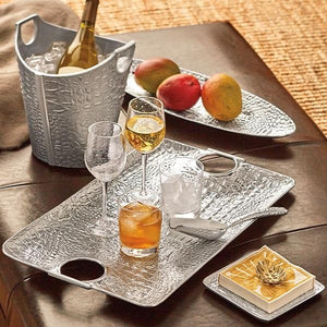 Croc Small Square Plate-Canape and Small Plates-|-Mariposa