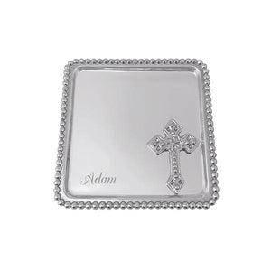 Cross Beaded Statement Tray-Baby-|-Mariposa