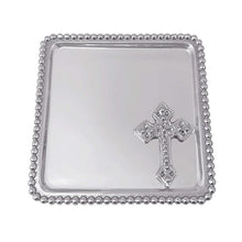 Load image into Gallery viewer, Cross Beaded Statement Tray | Mariposa Baby