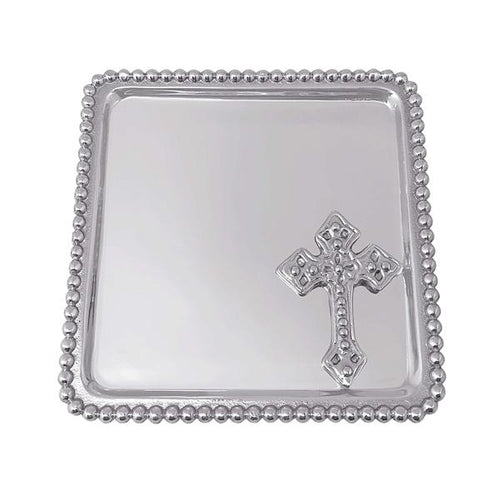 Cross Beaded Statement Tray | Mariposa Baby