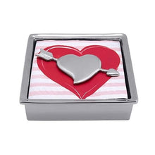 Load image into Gallery viewer, Cupid Heart Signature Napkin Box | Mariposa Napkin Boxes and Weights