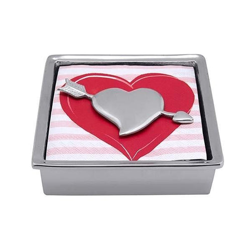Cupid Heart Signature Napkin Box | Mariposa Napkin Boxes and Weights