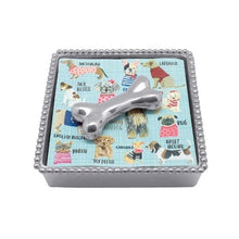 Load image into Gallery viewer, Dog Bone Beaded Napkin Box | Mariposa Napkin Boxes and Weights