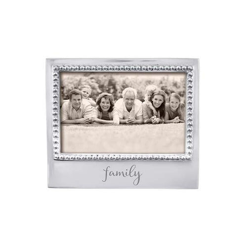 FAMILY Beaded 4x6 Frame | Mariposa Photo Frames