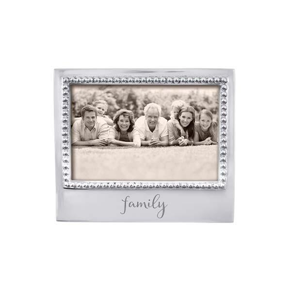 Family Beaded 4x6 Picture Frame Mariposa
