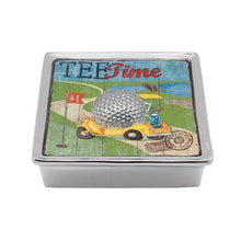 Load image into Gallery viewer, Golf Ball Signature Napkin Box | Mariposa Napkin Boxes and Weights