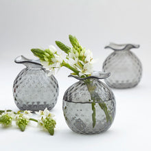 Load image into Gallery viewer, Mariposa Handblown Gray Pineapple Bud Vases