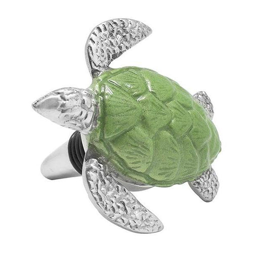 Green Turtle Bottle Stopper | Mariposa Barware