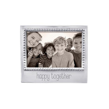 Load image into Gallery viewer, HAPPY TOGETHER Beaded 4x6 Frame | Mariposa Photo Frames