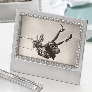 HE ASKED. SHE SAID YES. Beaded 4x6 Frame-Photo Frames-|-Mariposa
