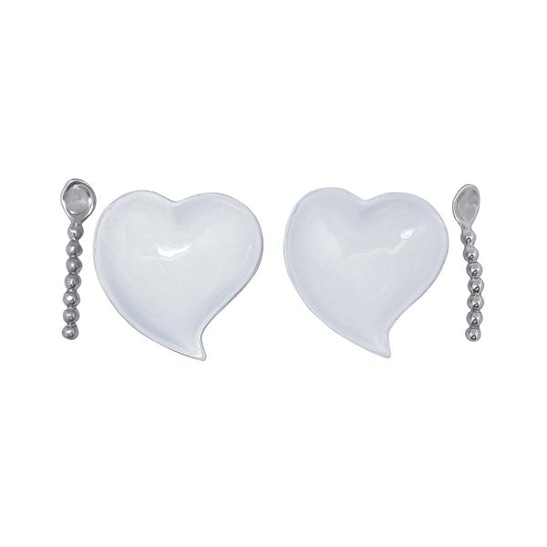 Heart Ceramic Open Salt Spoon Set | Mariposa Ceramics