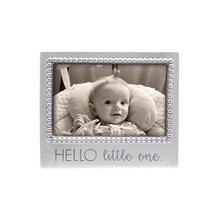 Load image into Gallery viewer, HELLO LITTLE ONE Beaded 4x6 Frame | Mariposa Photo Frames