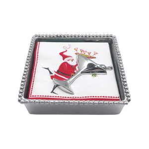 Mariposa | Holiday Cocktail Beaded Napkin Box - NEW NAPKIN-Napkin Boxes and Weights-Mariposa