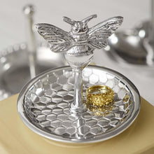 Load image into Gallery viewer, Honey Bee and Honeycomb Ring Dish-Gifts and Accessories-|-Mariposa