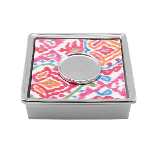 Java Ikat Signature Cocktail Napkin Box | Mariposa Napkin Boxes and Weights