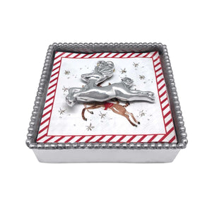 Leaping Reindeer Napkin Weight -Napkin Weights | Mariposa