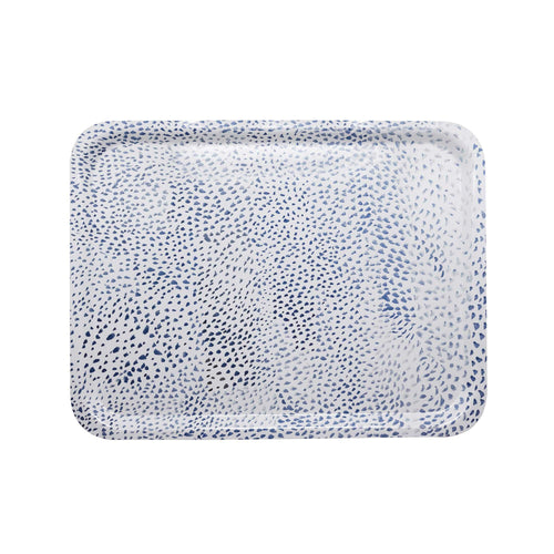 Little Dot Blue Rectangular Tray | Mariposa Serving Trays and More