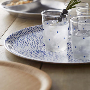 Little Dot Blue Round Tray-Serving Trays and More-|-Mariposa