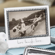 Load image into Gallery viewer, LIVE. LAUGH. LOVE. Beaded 4x6 Frame-Photo Frames-|-Mariposa