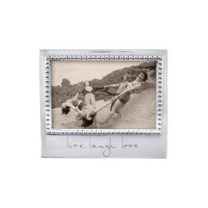 LIVE. LAUGH. LOVE. Beaded 4x6 Frame | Mariposa Photo Frames