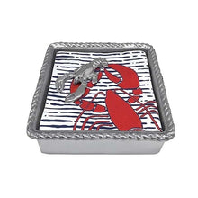 Load image into Gallery viewer, Lobster Rope Napkin Box | Mariposa Napkin Boxes and Weights