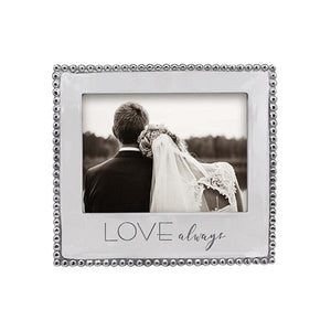 LOVE, ALWAYS Beaded 5x7 Frame | Mariposa Photo Frames