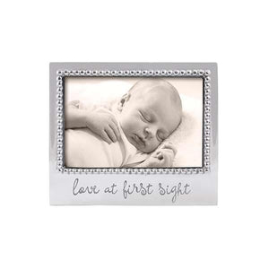 LOVE AT FIRST SIGHT Beaded 4x6 Frame | Mariposa Photo Frames