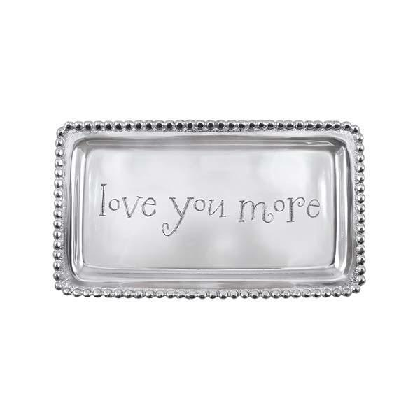 LOVE YOU MORE Beaded Statement Tray | Mariposa Statement Trays