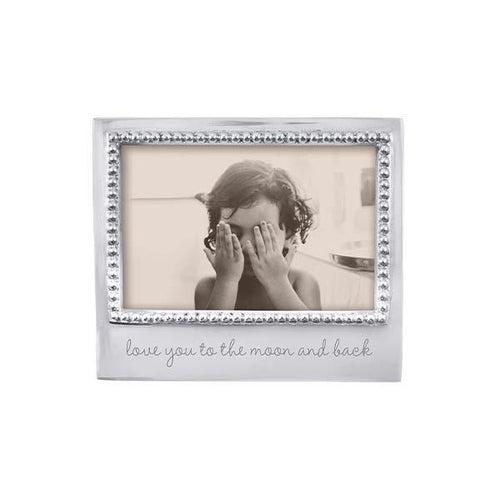 LOVE YOU TO THE MOON Beaded 4x6 Frame | Mariposa Photo Frames
