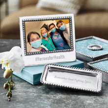 Load image into Gallery viewer, #HEROESFORHEALTH Beaded 4x6 Statement Frame-Statement Frame-|-Mariposa