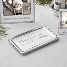 Load image into Gallery viewer, MERRY EVERYTHING AND A HAPPY ALWAYS Beaded Buffet Tray -Statement Trays | Mariposa
